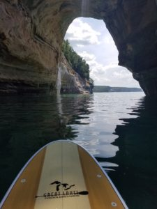 Pictured Rocks paddle board